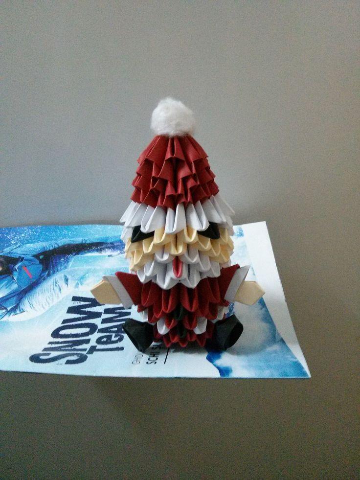 Aţi fost cuminţi? Mihaela's Origami3D Diy Santa Claus Christmas Paper Decorations.