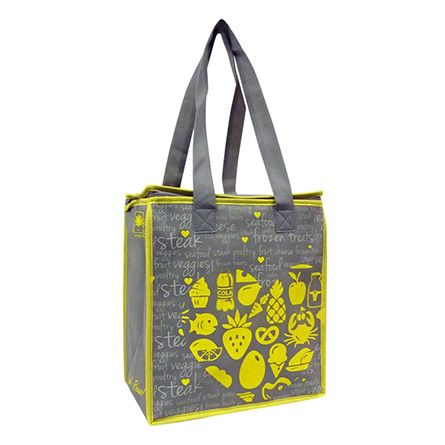 A great Insulated Resuasable Shopping & Tote Bag from Earthwise Bags! http://shop.earthwisebags.com/ProductDetails.asp?ProductCode=EW185_Gray%2FYellow