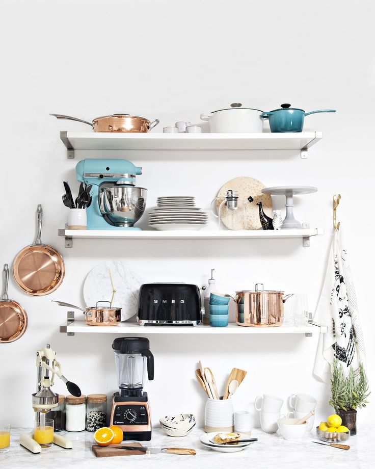 [ad] Making a wedding registry? Let us help; we'll do anything for love #ZolaRegistry // I always like the idea of open shelving when I see it like this, but in reality I just don;t think it would look so... cool.
