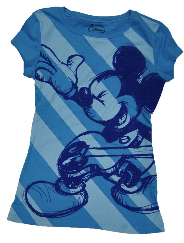 NWT Disney Junior Fashion BLUE TEXTURED MICKEY MOUSE ON GUITAR