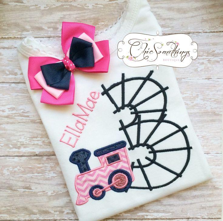 Train birthday shirt, pink train birthday, choo choo train shirt, girls train…