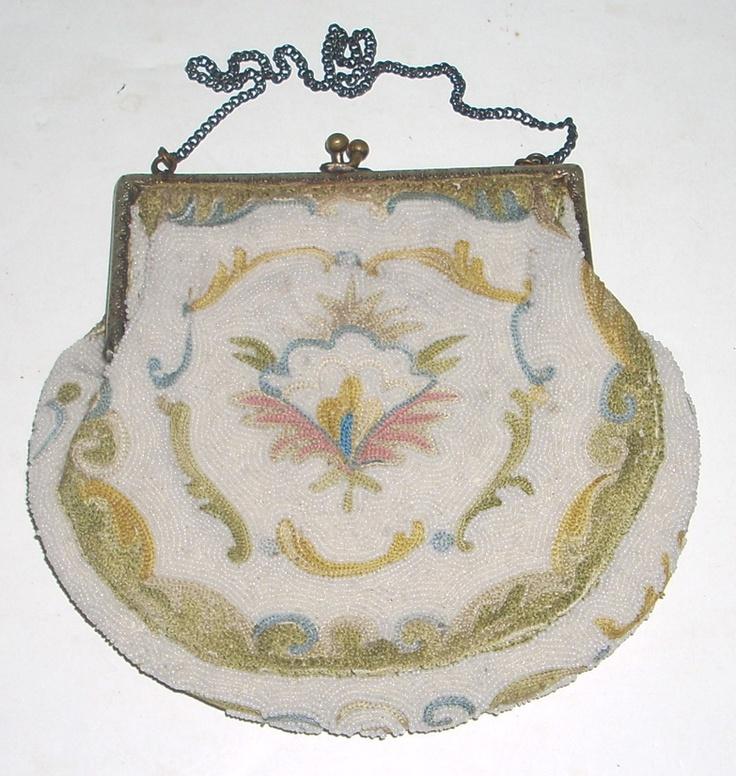 Antique HandMade French Beaded Evening Bridal Dress Bag | eBay