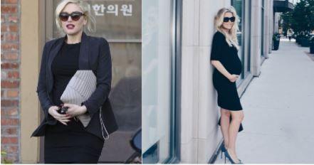 Celebrity Maternity Fashion & Style // The Little Black Dress seen on Gwen Stefani http://www.bigblondehair.com/my-style/celebrity-maternity-style-lbd-seen-gwen-stefani/