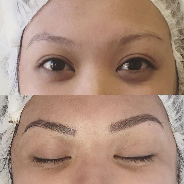 my first #microblade #eyebrow !! Can you believe this is a #tattoo?! I have been…