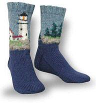 Lighthouse Socks knitting pattern.