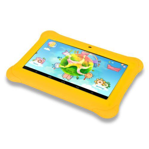 iRULU-7-BebePad-Android-4-4-Quad-Core-8Go-WIFI-3G-Tablette-Jaune-a-Housse-Jaune