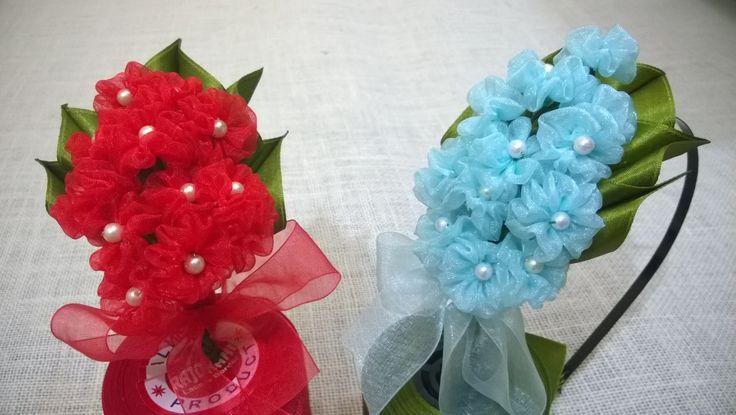 D.I.Y. Organza Hydrangea Flower Headband | MyInDulzens - YouTube