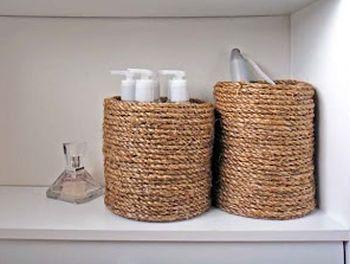 O organizador de sisal pode estar presente em qualquer cantinho de seu lar e não somente no banheiro. O seu closet vai ficar melhor ...