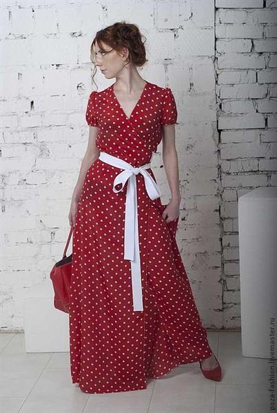 Платье горохом