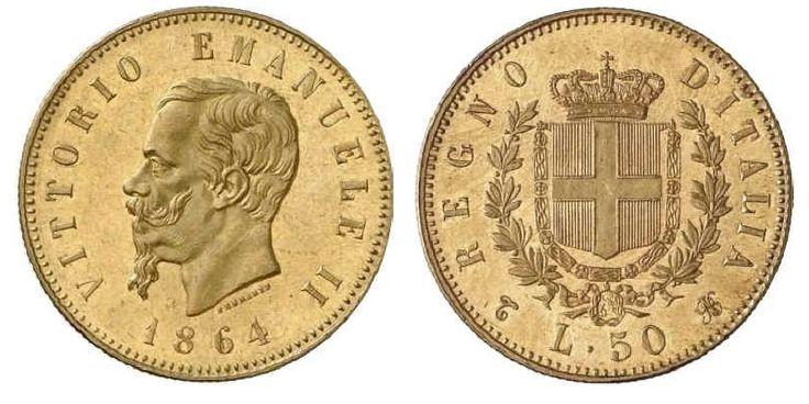 monete di valore Vittorio Emanuele 1864 R4