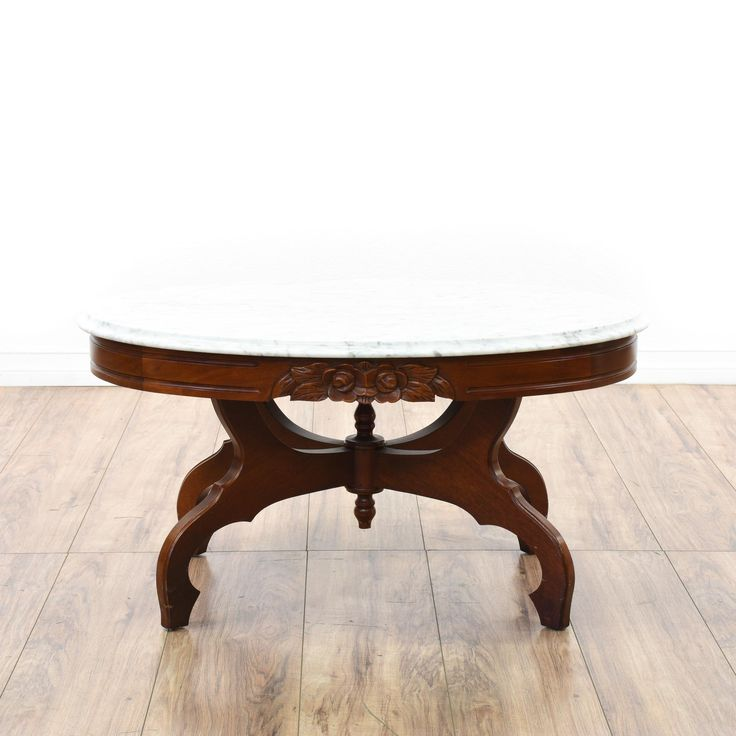 This Victorian Coffee Table Is Featured In A Solid Wood With Glossy Dark Cherry Finish