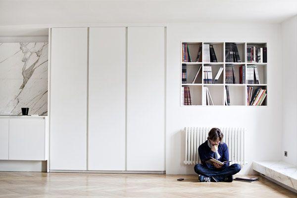 :: INTERIORS :: Appartment Poissonniere - Frederic Berthier Architecture featured on Plastolux - love this entire apartment, beautiful details #interiors: Decor, Ideas, Interiors, Living Room, Apartment, Kitchen, Space
