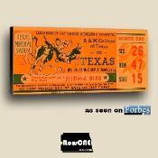 1936 Texas Longhorn football ticket art by Row One