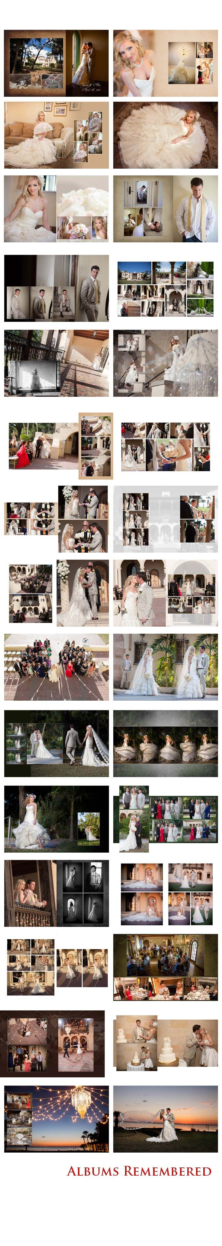 http://www.albumsremembered.com/design-gallery/weddings Free #wedding #album #design