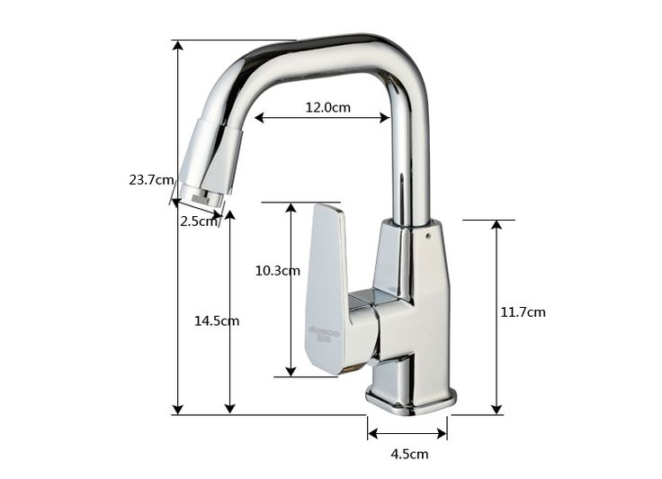 >> Click to Buy << Free shipping High quality brass bathroom mixer tap with 360 degree rotation chrome bathroom basin water faucet #Affiliate