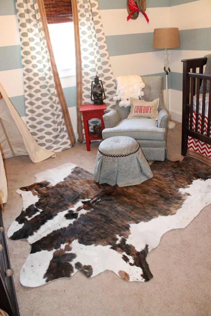 Cowboy and Indian Nursery i like the rug and window treatments but in a different color!