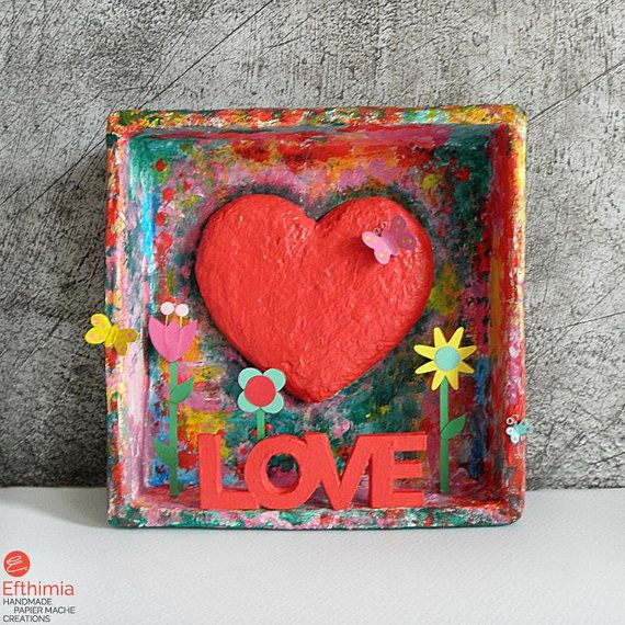 Heart Shadow Box Love Message Box Love Frame Happy Message  #efthimiapapiermache #papermache #handmadeart #happyvalentinesday❤️ #love #heartart #onlylove #lovelovelove #loveeachday #papiermache #diorama #shadowbox #papersculpture  #hearts #redheart #ihavethisthingwithcolor #ihavethisthingwithpaper #paperart #thehappynow #madewithlove #papercreations #heartdecor #creativelifehappylife #artobject #shopsmall #createmakeshare #egst #paperwork #paperdecoration #creativity #homedecor