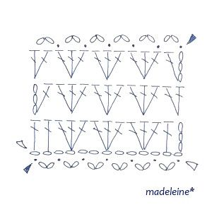 かぎ針編みのストール・編み図 の画像 madeleine's blog