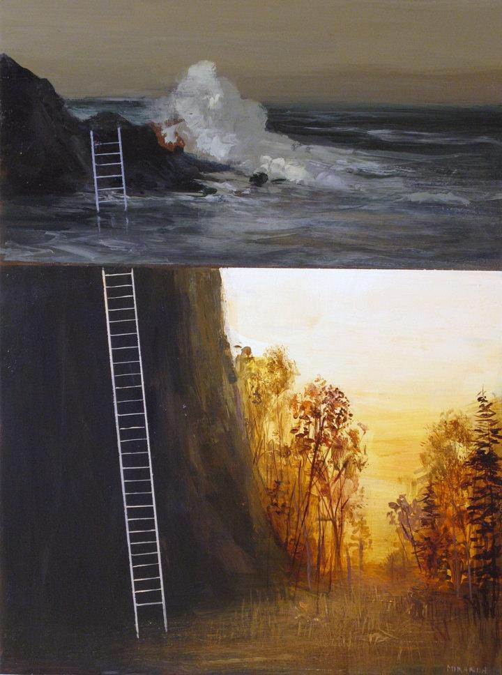 Omg love!! :: Jimmy Miranda - Autumn Ladder-Original Painting-. $275.00, via Etsy.