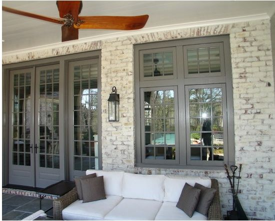 German smear with grey; love the look! German smear on brick - Google Search