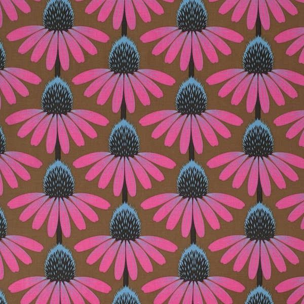 http://www.plushaddict.co.uk/free-spirit-pretty-potent-outlook-echinacea.html Free Spirit - Pretty Potent Outlook Echinacea - cotton fabric