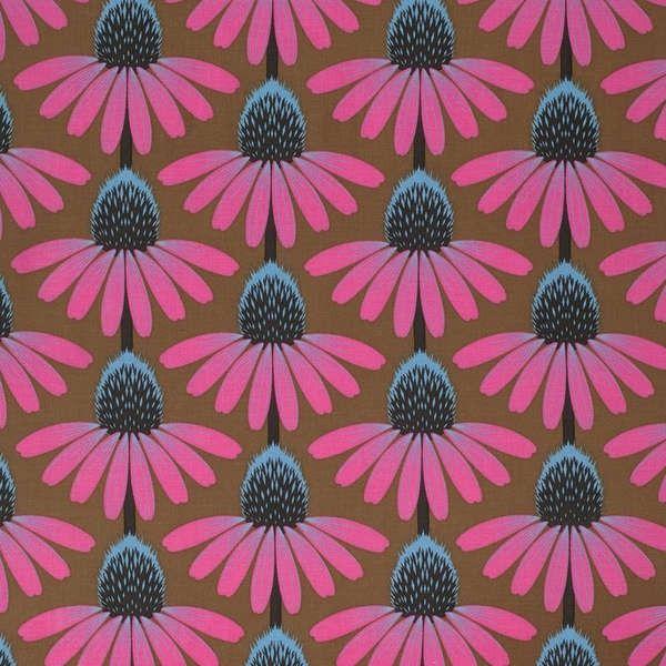 http://www.plushaddict.co.uk/free-spirit-pretty-potent-outlook-echinacea.html Free Spirit - Pretty Potent Outlook Echinacea - cotton fabric