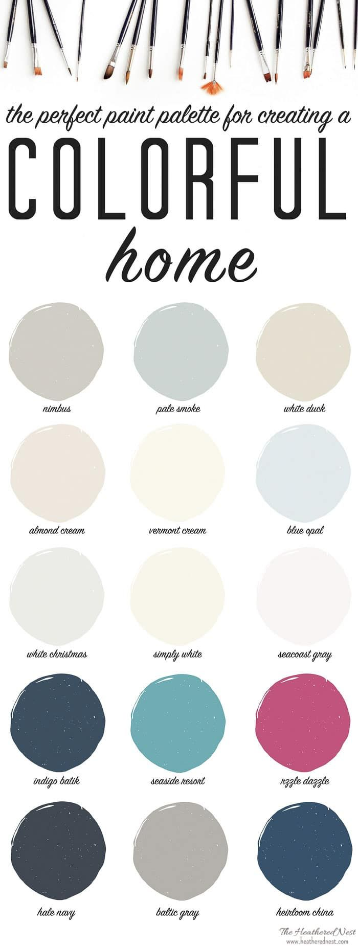 Color crimson on pinterest style guides painted - Our In Living Color Paint Palette