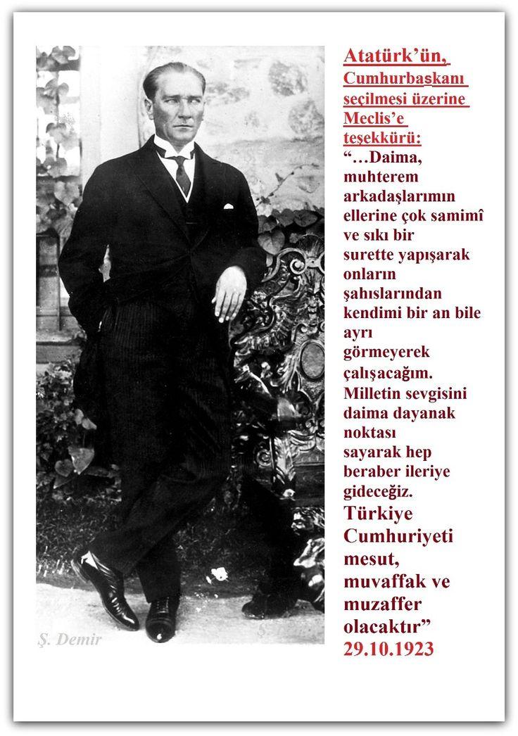 ATATÜRK CUMHURİYET'İN İLANI. 1923