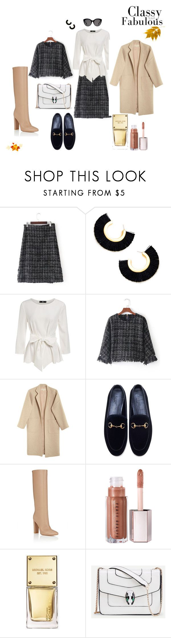 """""""winter"""" by aburguesita on Polyvore featuring Mara Hoffman, Gucci, Gianvito Rossi and Michael Kors"""