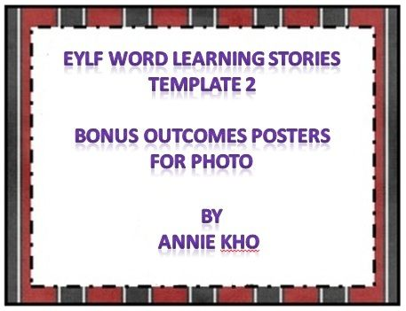 40 EYLF Word Learning Stories Templates with bonus Outcome Posters for photos. some of the templates have outcomes linking to the experience. i have also included the outcome for you to copy and paste.