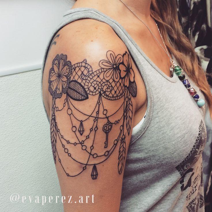 Lace tattoo idea                                                                                                                                                      More