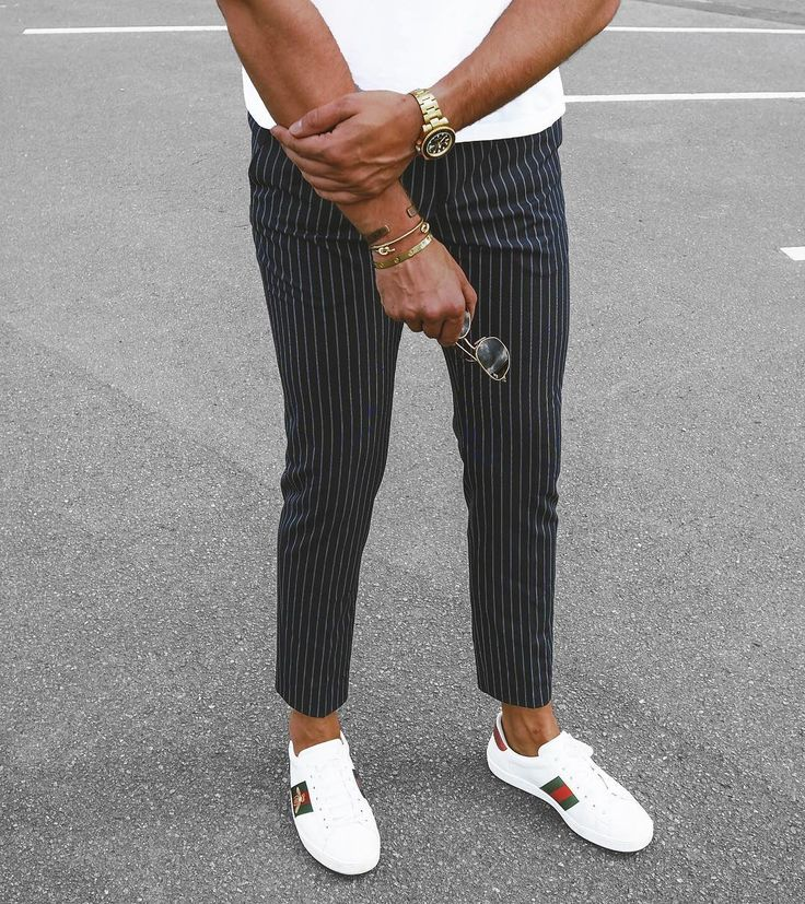 """1,591 Likes, 28 Comments - Philipp (@streetandgentle) on Instagram: """"Pinstripes and Gucci kind of Friday  #gucci #armcandy #rayban #details"""""""