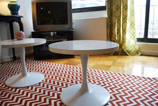 fabric, painter's tarp, rug pad: The Doors, Rooms Decor Ideas, Diy Canvas, Diy Chevron, Diy Rugs, Make A Rugs, Floors Rugs, Drop Clothing, Chevron Rugs