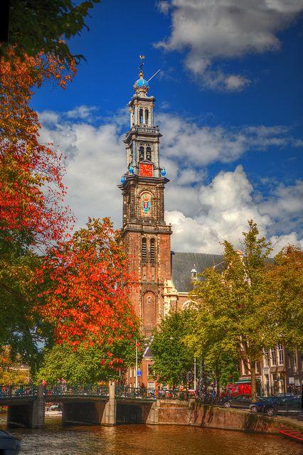 Amsterdam - Prinsengracht - Westertoren - Autumnal Colors   Flickr - Photo Sharing!