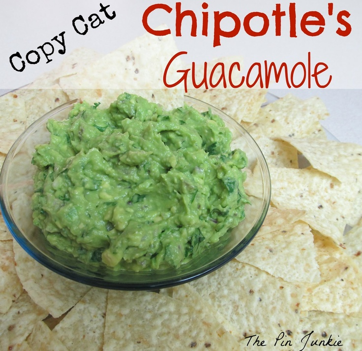 "Copy-Cat Chipotle's Guacamole  (Yes, I pinned this on my ""Toddler Snacks"" board because a certain little boy in my house LOVES this stuff.)"