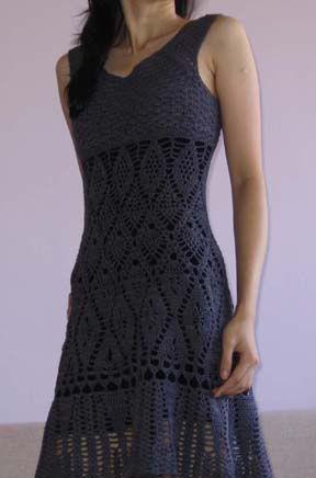 Crochet Kleid Muster für Frauen photo