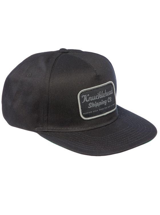 THE BLACK BLOCK CAP 5 panel snap-back cap.