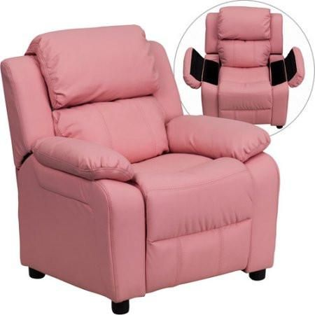 Kids Children Toddlers Upholstered Leather Fabric Recliner Chair with Storage Arms  sc 1 st  Pinterest : cheap toddler recliner chairs - islam-shia.org