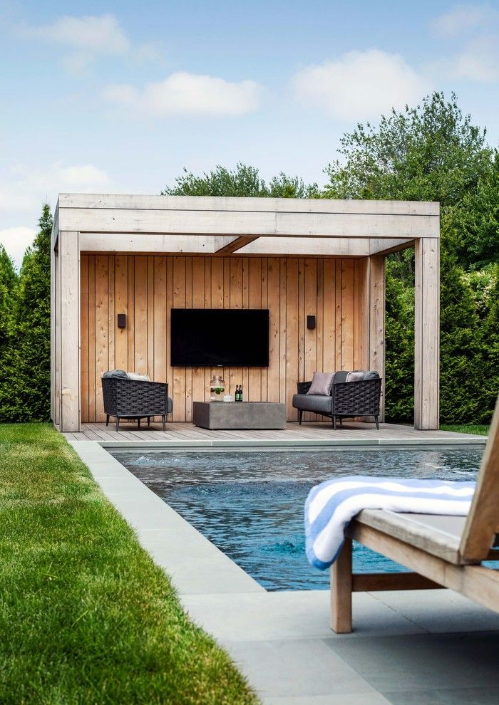 20 Sensational Farmhouse Swimming Pool Designs You Must See In 2020 Pool Patio Designs Patio Seating Arrangement Patio