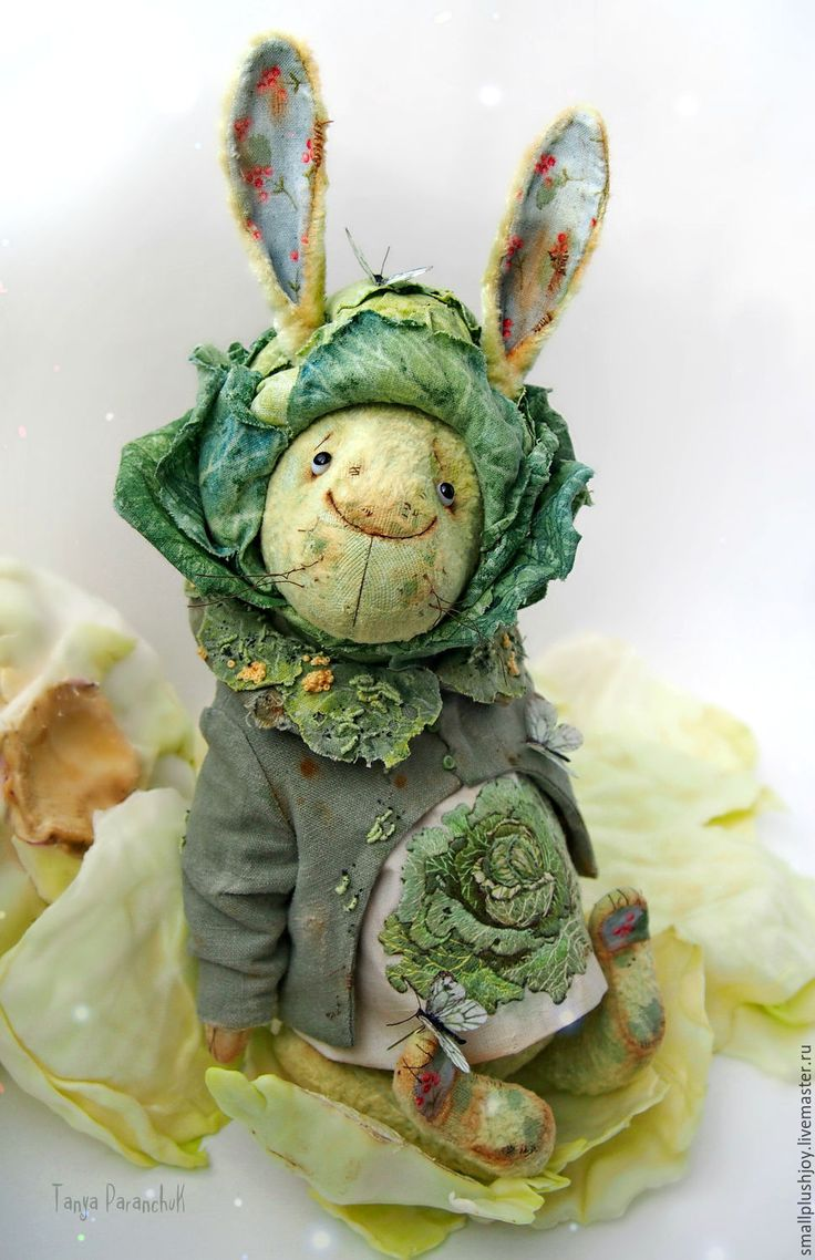 Buy Hare Kapustkin - green, cabbage, hare, bunny teddy, bunny handmade