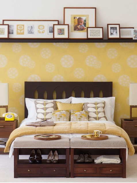 83 best Behind a bed decorating images on Pinterest | Home ideas ...