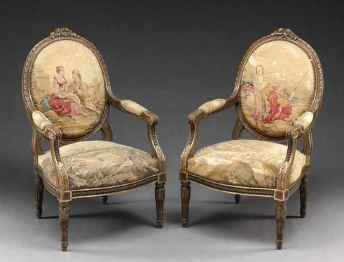 Beautiful Louis XV Style Chair Set (French)