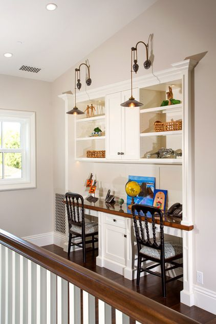 "Recessed home office ""Traditional Home Office by Legacy Custom Homes,Inc."""