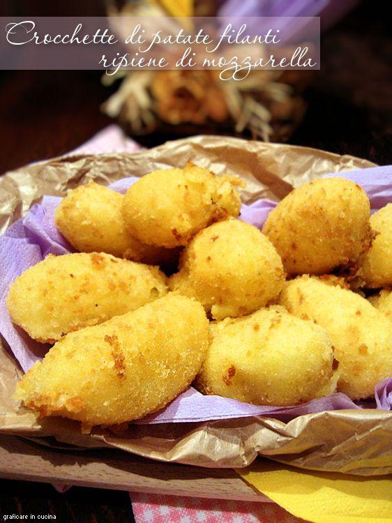 Crocchette di patate filanti ripiene di mozzarella | Graficare in cucina