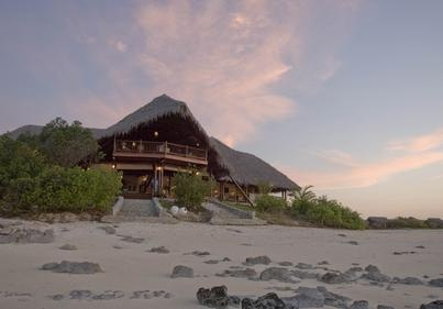 Medjumbe Main Building and Beach. Visit our website at www.raniresorts.com