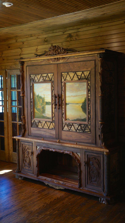 Www.lpostrustics.com Grandest Of Them All Adirondack Rustic TV Cabinet. Oil  Paintings