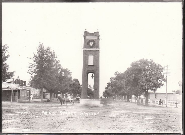 This structure was built in 1909 to mark the cities Silver Jubilee . The clocktower has been a central feature of the main street every since that time . The above was taken by the contractor C. Bender bricklayer . circa 1910 -12 Photo : Charles Bender collection . Grafton . NSW | Flickr