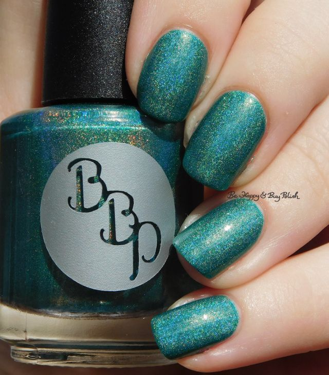 Bad Bitch Polish Demeter holographic | Be Happy And Buy Polish https://behappyandbuypolish.com/2017/04/11/bad-bitch-polish-love-your-planet-nail-polish-collection-swatches-review/