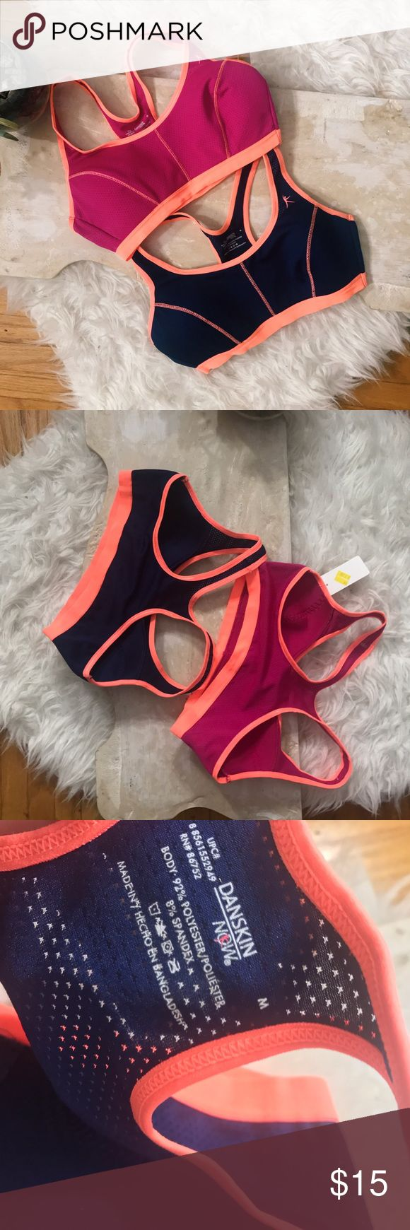 NWT sports bra lot Super cute navy and pink with orange sports bras that have never been worn! If you have any questions just ask! NOT NIKE Nike Intimates & Sleepwear Bras
