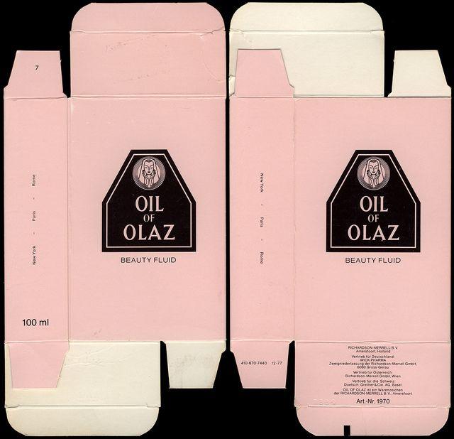Oil of Olay packaging   Germany-Europe - Oil of Olay - Oil of Olaz - beauty fluid box - 1980's ...